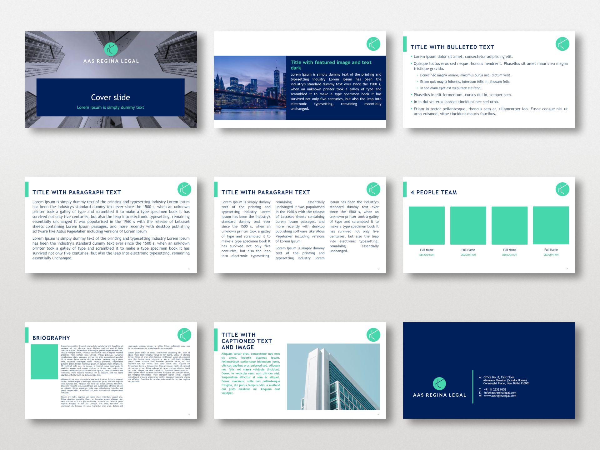 AAS Regina Legal - Presentation Template