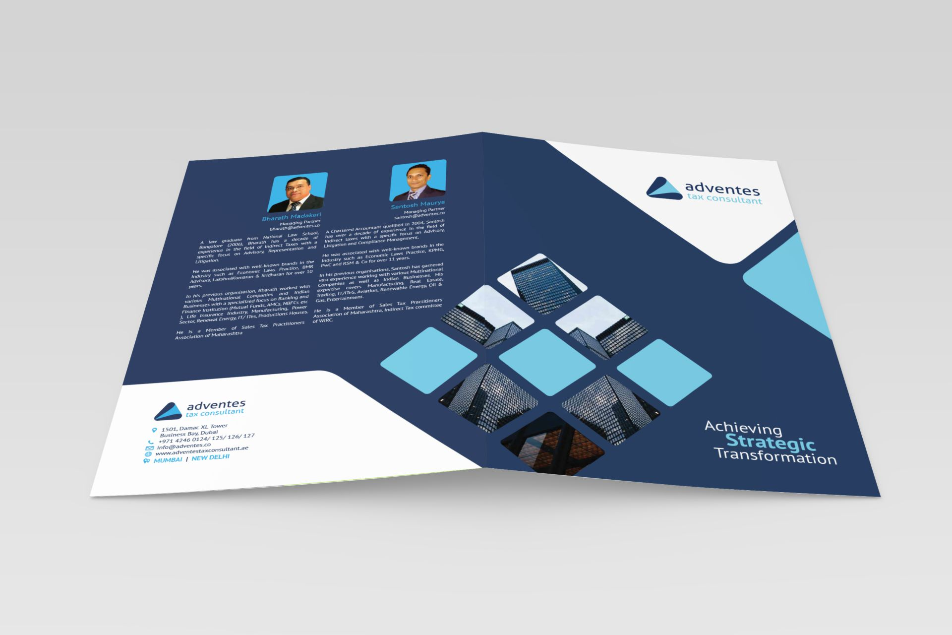 Adventes Tax Consultant - Brochure Cover