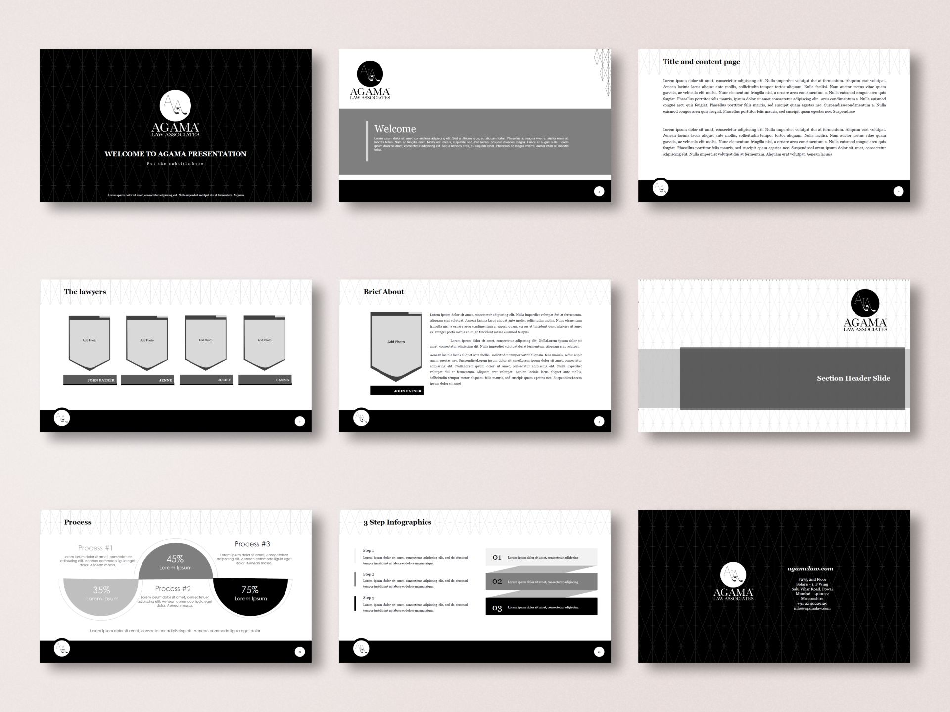 Agama Law Associates - Presentation Template