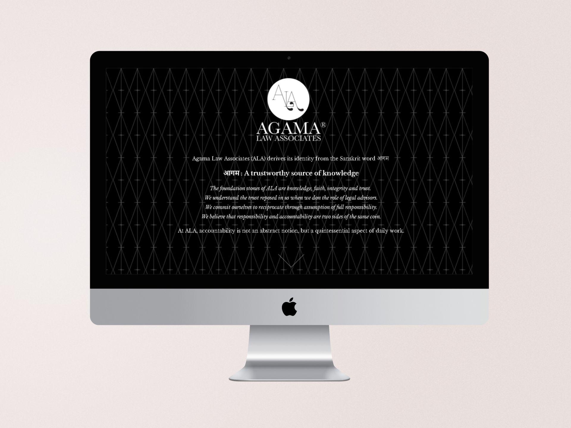 Agama Law Associates - Website Landing Page