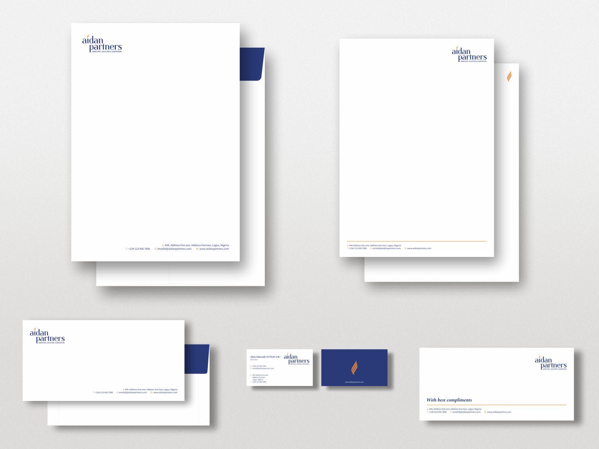 Aidan Partners - Stationery