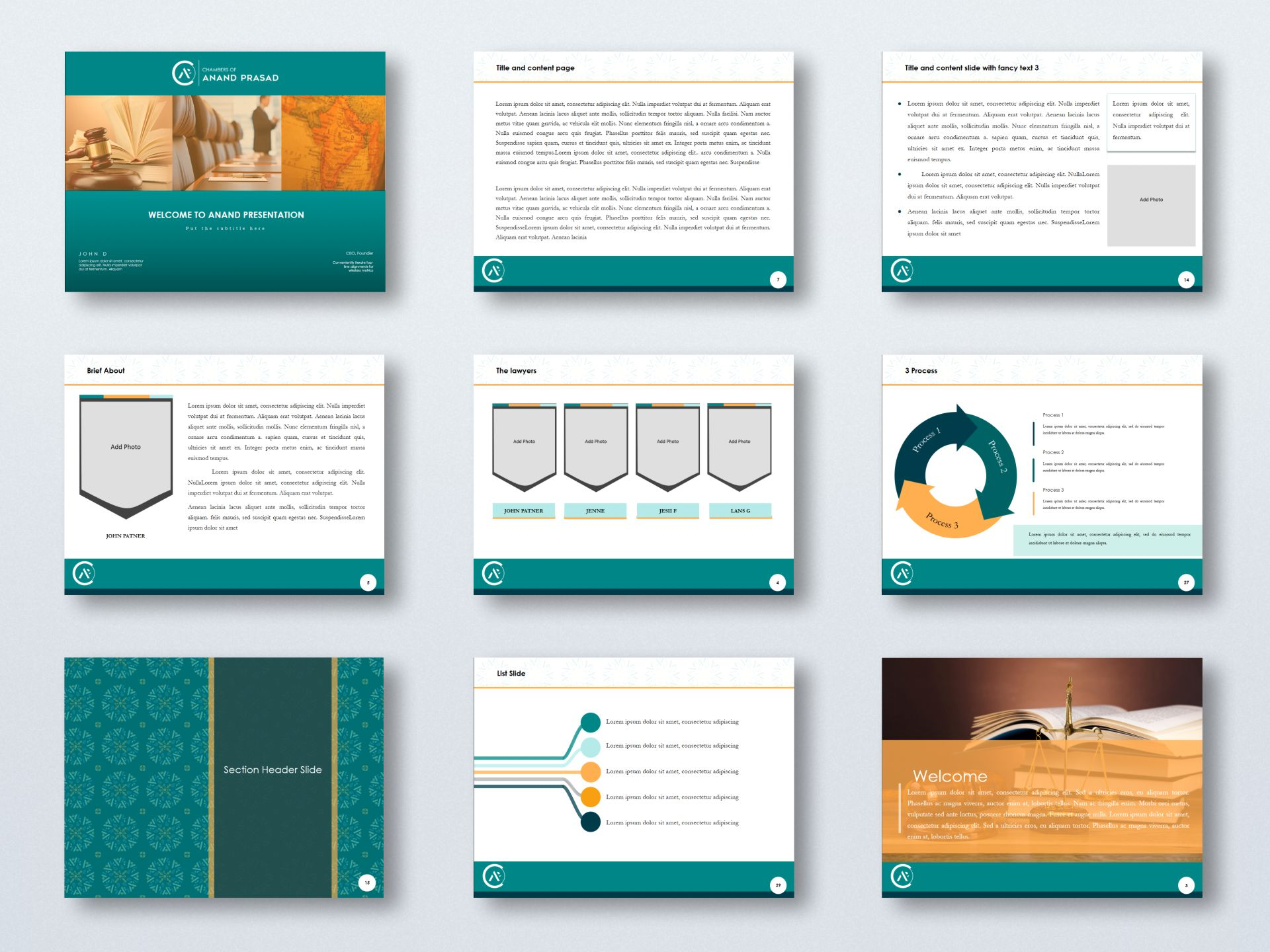 Chambers of Anand Prasad - Presentation Template
