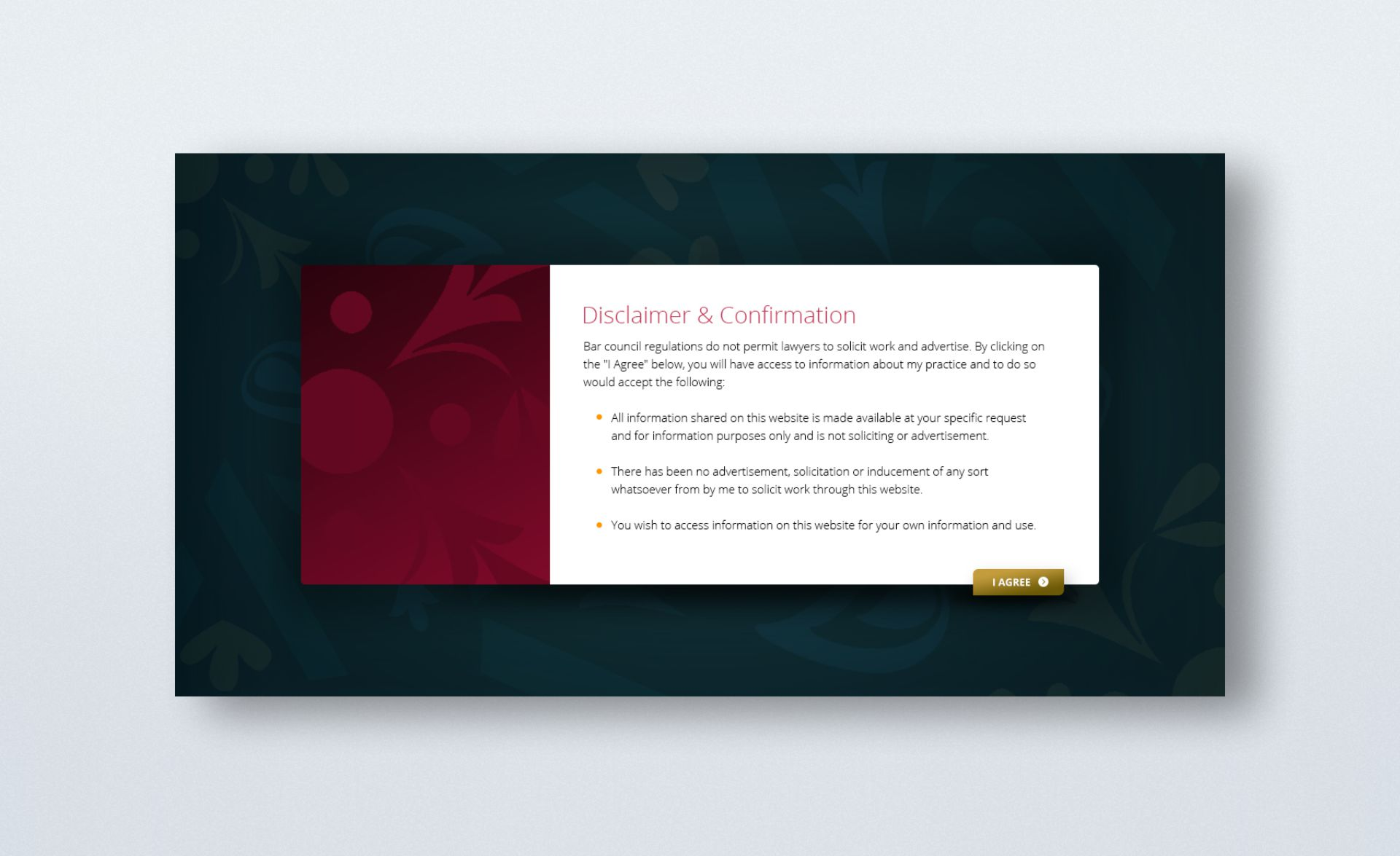 Chambers of Anand Prasad - Website Design - Disclaimer