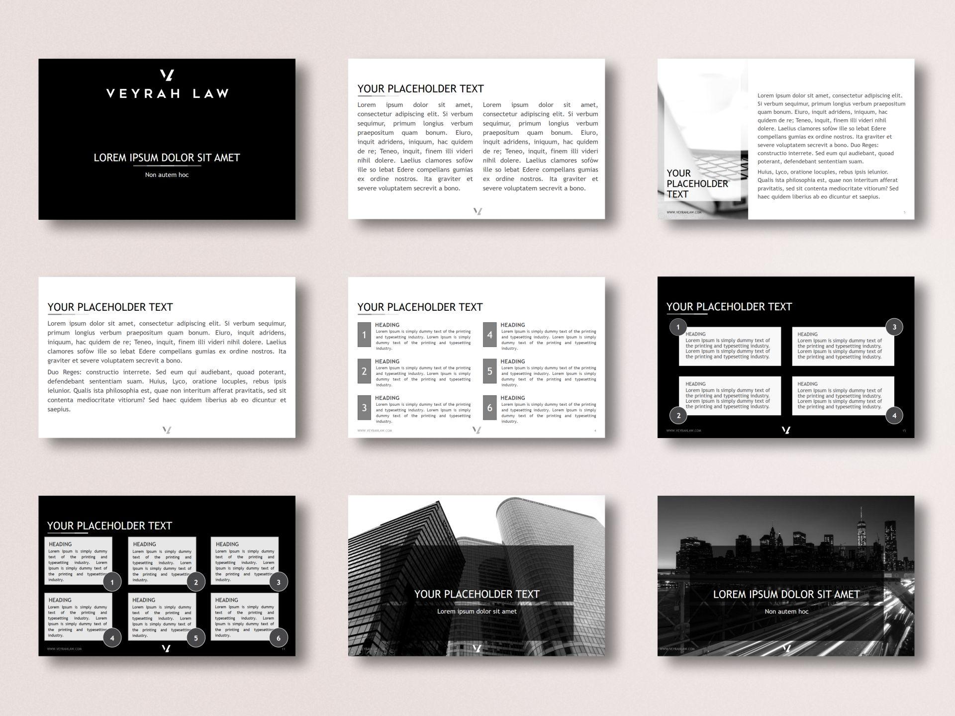 Veyrah Law - Presentation Template